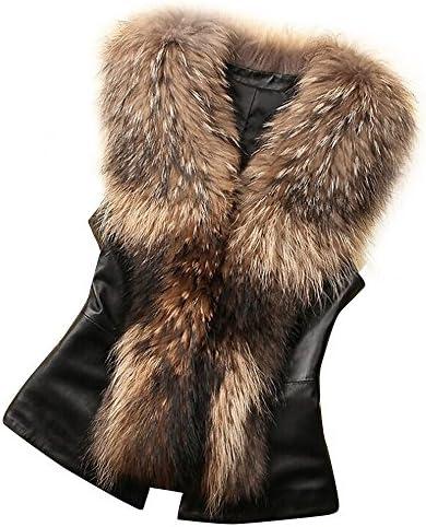 Women Vest Jacket Fashion Stand Collar Solid Color Wool Vest Winter Warm Faux Fur Vest Coat by Chaofanjiancai / Women Vest Jacket Fashion Stand Collar Solid Color Wool Vest Winter Warm Faux Fur Vest Coat by Chaofanjiancai