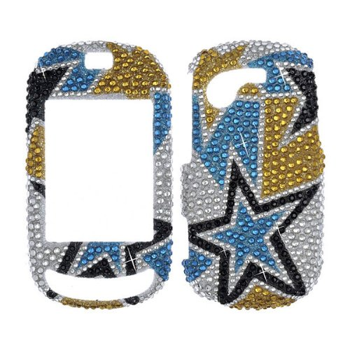 Premium - Samsung T669 / Gravity T Multiple Stars Full Diamond Xtreme - Faceplate - Case - Snap On - Perfect Fit Guaranteed ()