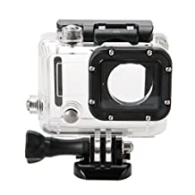 Deyard 45M Underwater Waterproof Protective Housing Case with Quick Release Mount and Thumbscrew for GoPro HERO 3 Action Camcorder - Up to 40 Meters Underwater Photography