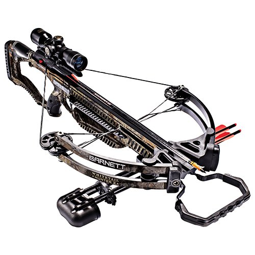 Barnett Whitetail Hunter II Crossbow | Shoots 350 FPS | Includes 4x32 scope, rope cocking device, light weight quiver & two 20 inch Headhunter arrows (Best Crossbow For Whitetail Deer Hunting)