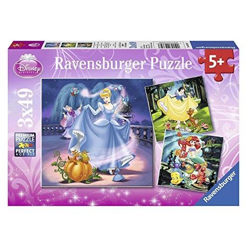 51u4I8%2BVaRL. SS500 Rompecabezas para niños de todas las edades Tres puzzles Ravensburger de las Princesas Disney en un paquete; en la caja hay puzzles de 49 piezas en formato 18 x 18 cm Los rompecabezas de Ravensburger desarrollan habilidades de concentración y creatividad, son un pasatiempo optimo para relajarse solo o con amigos y una idea de regalo