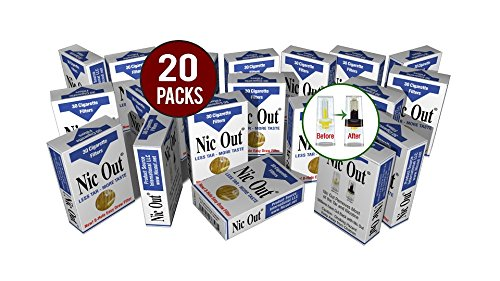 Wholesale Filters - Nic-Out Cigarette Filters For Smokers, 30 Filters - 20 Packs Wholesale