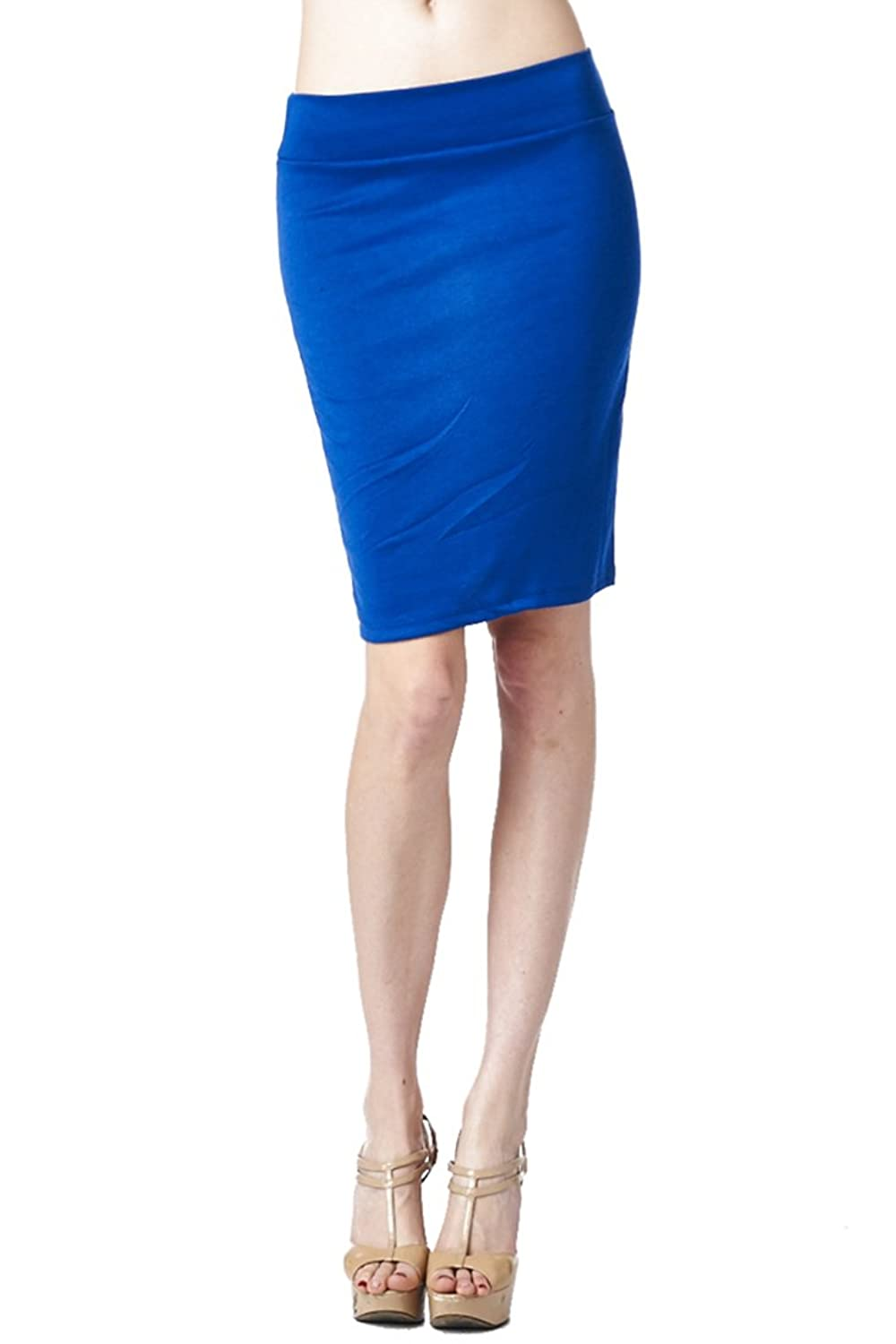 82 Days Women'S Casual To Office Wear Above Knee Pencil Skirt - Solid & Prints