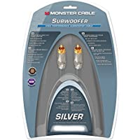 Monster Silver High Performance Subwoofer Cable - 12 Feet