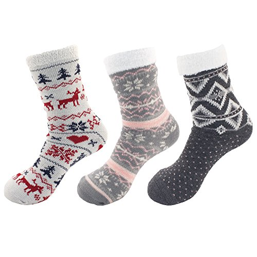 E Fuzzy Women's Assortments Soft Warm Cozy Super Assortment BambooMN Socks fRz6v