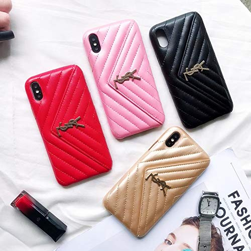 Us-Fast Delivery iPhone Xs Max Case, Wallet Luxury Vintage Monogram Stripe Case for iPhone Xs Max Women Girls