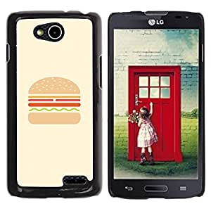 Paccase / SLIM PC / Aliminium Casa Carcasa Funda Case Cover para - Burger Minimalist Hamburger Chef Cooking - LG OPTIMUS L90 / D415