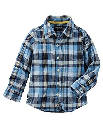 OshKosh Boys Plaid Herringbone Button-Front Shirt (12 Months) ()