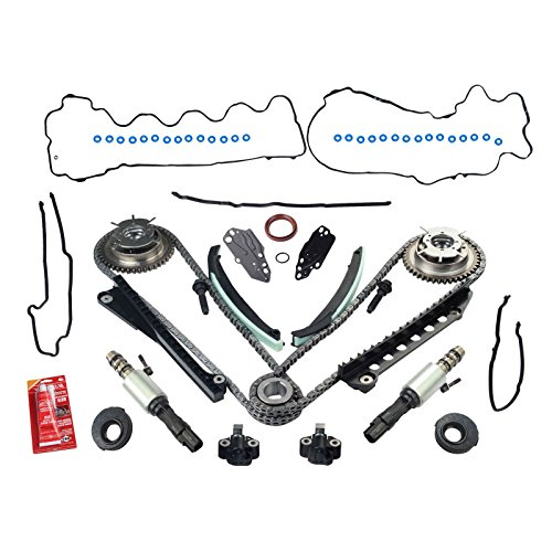 yjracing Timing Chain Kit W/Cam Phasers and VVT Valves Fit for 5.4L Triton 3V Ford F150 Lincoln ()