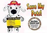 Messenger Pet FD0713 Save My Pets Fireman Dog 3-D Plush Window Sign - 2 Pack
