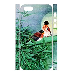 Deluxe Hipster Designer Bamboo Style Chinese Painting Phone Shell for Iphone 5 5S Case