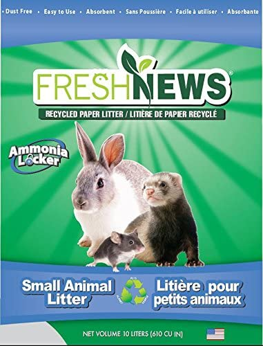 B007573JRM Fresh News Paper Small Animal Litter, 10,000-Cubic Centimeter 51u4KQM7WzL