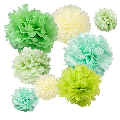 Flower Sea Turtle - WYZworks Set of 8 (Assorted Lighter Green Color Pack) 8