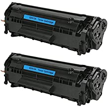 Do it Wiser Compatible Black Toner Cartridge for HP LaserJet 1010 1012 1018 1020 1022 1022n 1022nw 3015 3020 3030 3050 3052 3055 M1319 M1319f - Q2612A - Yield 2,000 - 2 Pack