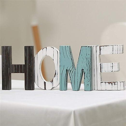 Figurines miniaturas – Letra de madera para decoración del hogar ...
