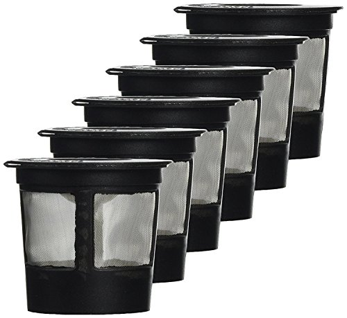 Great Rocky 6 x Solo Coffee Pod Filters Compatible with Keurig K cup coffee system--Reusable Coffee Filter