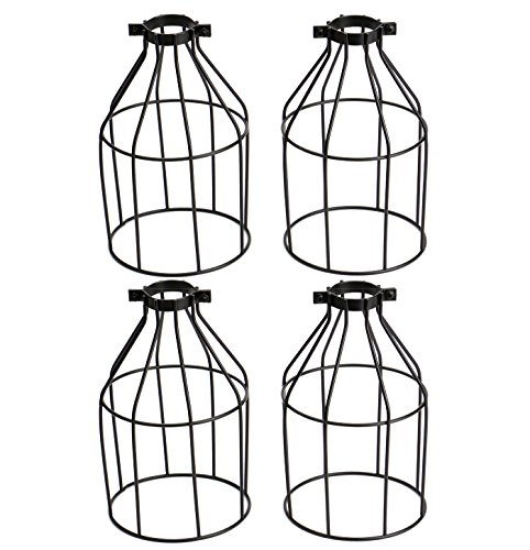 Bekith Vintage Style Bird Cage Lighting Metal Lamp Guard for Pendant String Lights and Lamp ...
