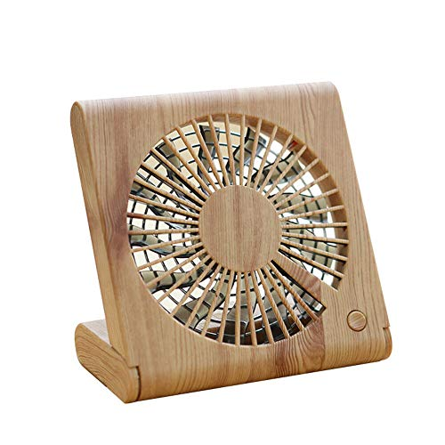 Highpot 2019 New Wood Grain USB Desk Fan, Foldable Portable Mini Fan for Better Cooling, Perfect for Office, Sleeping,Home,Traveling (A) (Best New Gadgets Of 2019)