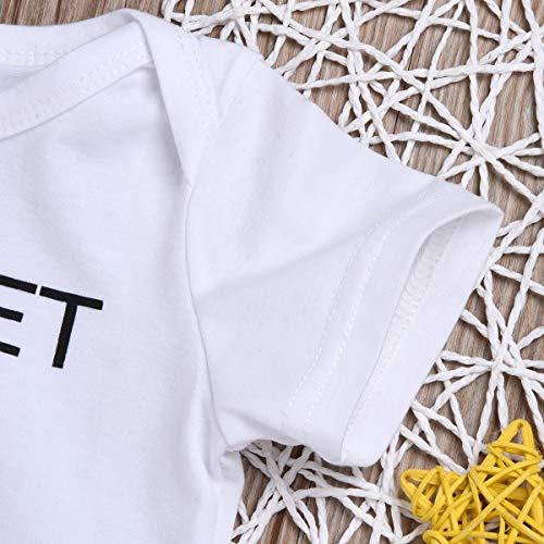 b56cdc4a9c8b5 Mini honey 2Pcs Infant Twins Baby Boys Girls Short Sleeve Letter Print  Romper Bodysuit Summer Outfit