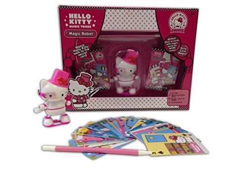 Hello Kitty Magic Robot Trick Set with Wand and Collectible Wind Up Figurine (Robot Figurine)