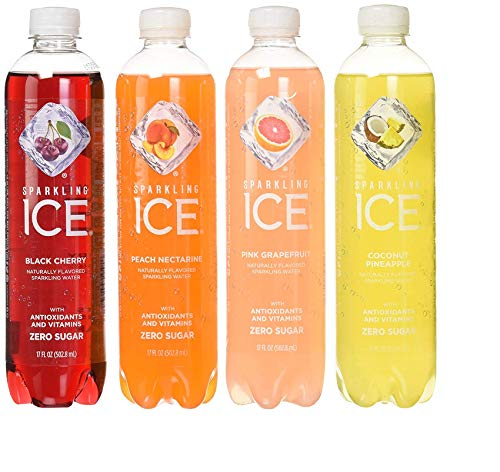 - Sparkling ICE Variety Pack, 17 Fl Oz, 12Count (Black Cherry, Peach Nectarine, Coconut Pineapple, Pink Grapefruit) (2 Case(12 Count))