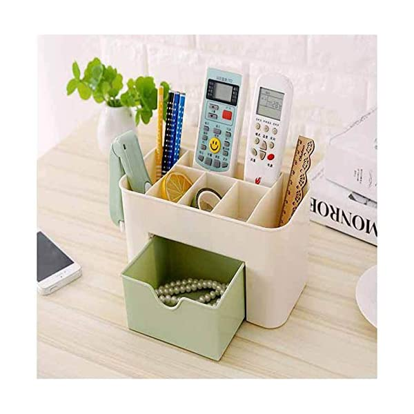 ABTRIX WITH AB Office Desk Organizer. Pen & Pencil Holder. Markers, Stationery Caddies for Office/Teacher Supplies Caddy Organizer with Drawer for Desktops 2