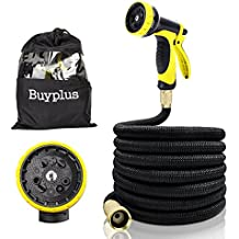 KRY Latest Leak-Proof 50FT Garden Hose with Rubber Hand Sprayer Gun, Extreme All Weather Flexibility & Easy to Coil Washing Water Hose - A Best Mother's Gift for Pets & Garden Watering