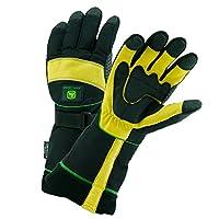 John Deere JD98540 Waterproof Grain Deerskin Leather Ski Gloves with Thinsulate Lining and Extended Cuff, 1 Pair