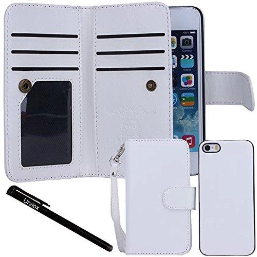 iPhone se cas, iPhone 5S/5/5étui portefeuille en cuir avec urvoix (TM) Étui porte-cartes à rabat, 2en 1magnétique Coque arrière détachable pour Apple iPhone se 55S
