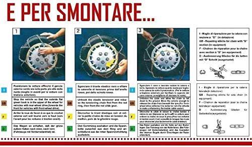 Catene da Neve OMOLOGATE Speed 9mm per Pneumatici GOMME 195//50 R 15 195 50 R 15