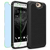 HTC One A9 Case, INNOVAA Smart Grid Defender Armor Case W/ Free Screen Protector & Touch Screen Stylus Pen - Black