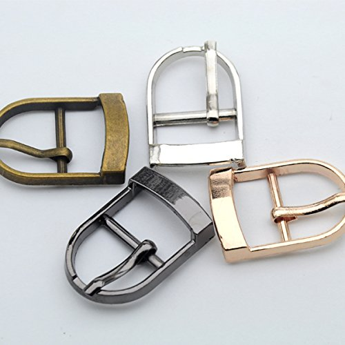 Buckes - Wholesale 20pcs/lot Small Metal 19mm Shoe Buckle with pin high Polished Buckle Nickle/Black/Bronze/Gold BK-008 - (Size: Mixed Color) from Lysee