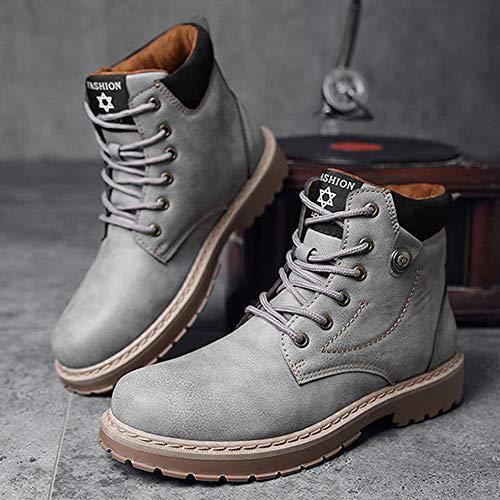 Stivali in Marten Stivali Retro Aiuto per Stivali Alta Gray E Adulti Boots Inverno Pelle Stivali Uomo Doc Antinfortunistici Moda Autunno Classici t1qStg