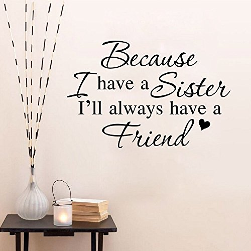 Aiwall 9186 DIY wall decal,Because I have a sister, Living Room Wall Sticker Home Decoration Decals