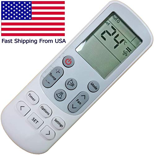 Replacement DB93-15169G Samsung Remote Control for Samsung A/C Air Conditioner DB93-14643F DB93-14643R DB93-14643S DB93-14643T DB93-15169G AJ007JNADCH/AA AJ009JNADCH/AA AJ012JNADCH/AA AJ018JNADCH (Ac Control Remote)