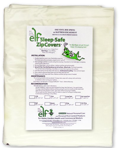 Sleep Safe ZipCover 6 Gauge Vinyl Bed Bug, Dust Mite, and Allergen Proof Zippered Box Spring Encasement / Allergy Mattress Protector Cover / Crib - 28 inches x 52 inches x 6 inches