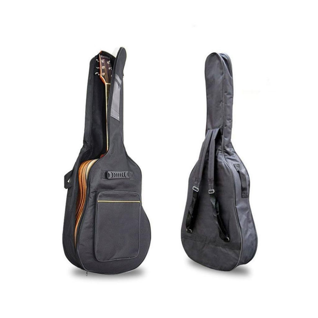 Black 41' Acoustic Guitar Double Straps Padded Guitar Soft Case Cover Bag Backpack ZERVIOE 10780303