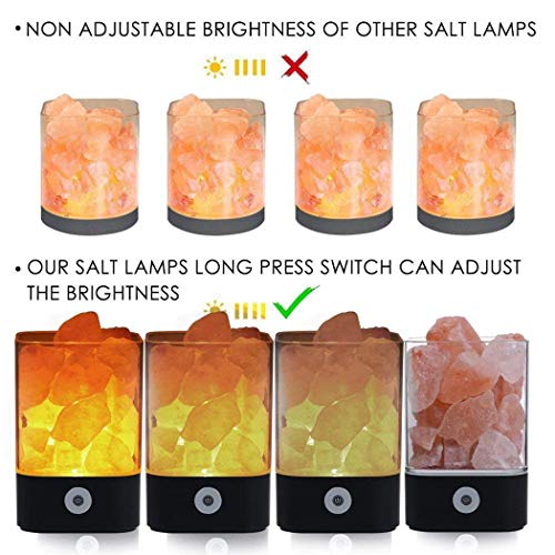 Bluefringe Night Light M2 Himalayan Crystal Salt Lamp Natural Negative Ion USB Charging Creative Gift by Bluefringe (Image #6)