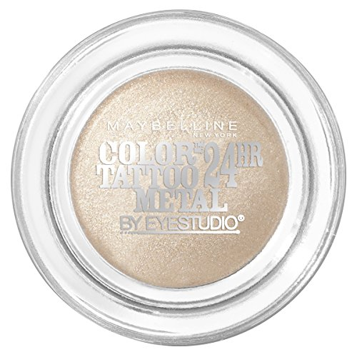 Maybelline New York Eyestudio ColorTattoo Metal 24HR Cream Gel Eyeshadow, Barely Branded, 0.14 oz.