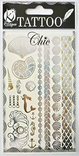 Ki-Sign Tatuaje efímero Tatoo Chic – almeja: Amazon.es: Hogar
