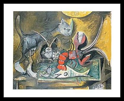 Nature Morte, Chat et homard by Pablo Picasso Art Print Poster ...