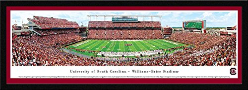 (South Carolina Football - 50 Yard - Blakeway Panoramas College Sports Posters with Select Frame)