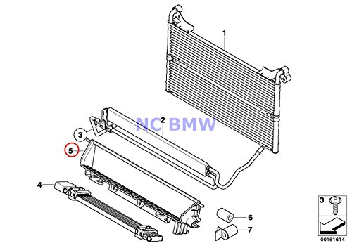 BMW Genuine Auxiliary Radiator Oil Cooler Air Duct 535i 535xi ()