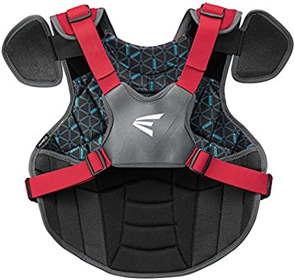 Mobility 2 Piece TORSO FLEX for Best Fit BIODri Sweat Wicking Liner Protection EASTON PROWESS Fastpitch Softball Catchers Chest Protector 4 Point Adjustable Strap System