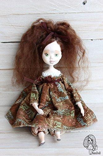 Art clay doll, OOAK Art Doll, clay doll, Polymer clay doll, Handmade doll, Collecting doll, sculpted clay doll, miniature doll