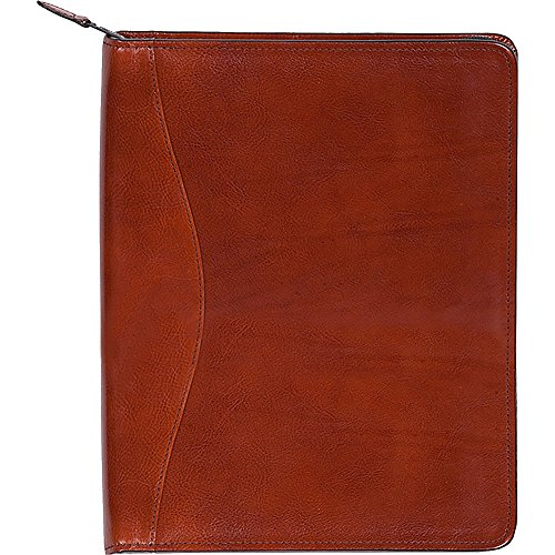 Scully Women's 5012Z Italian Leather Padfolio (Cognac) by Scully