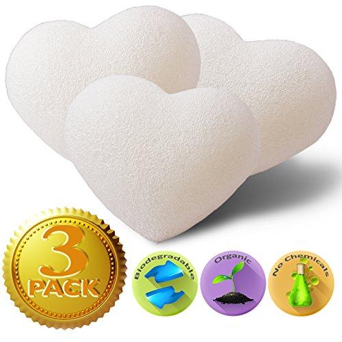 Konjac éponge (3 pièces) - Natural Baby éponges de bain pour les bébés et la peau sensible - Non toxique et sécuritaire