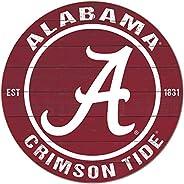"KH Sports Fan Alabama Crimson Tide 20""x20"" Weathered Circle Sign,"