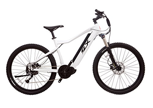 FLX Trail Electric Bicycle Mountainbike with Powerful Battery and Motor, Long Range (White Lightning, 13 AH Battery Standard Configuration)