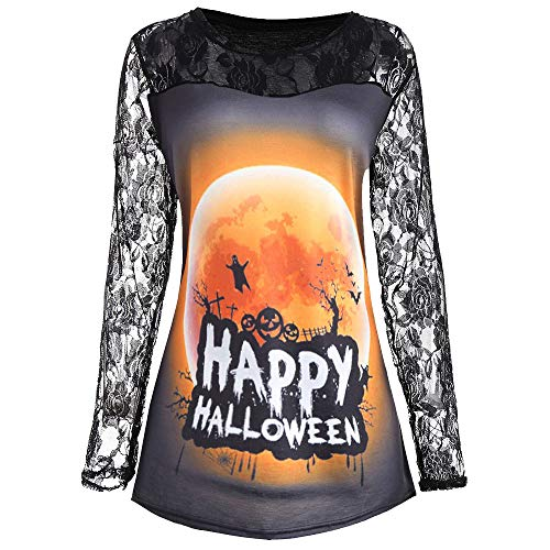 Big Promotion! Toimoth Women's Halloween Pumpkin Devil Long Sleeve Tops Blouse -